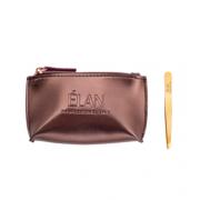 Пинцет ELAN proficiency GOLD с брендированной косметичкой Bronze для бровей