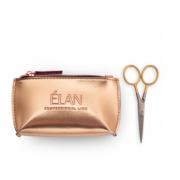 Ножницы профессиональные ELAN GOLD с брендированной косметичкой ELAN Gold для бровей
